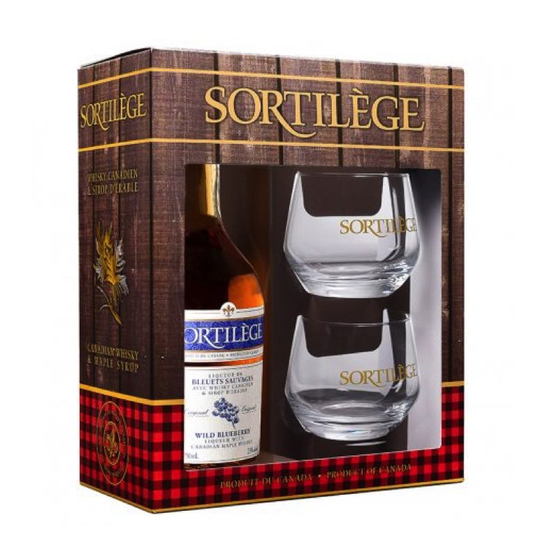 Coffret cadeau degustation whisky au bleuet Sortilege