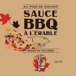 poster di salsa barbecue d'acero