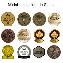 Récompense obtenue par le cidre de feu médaille du quebec