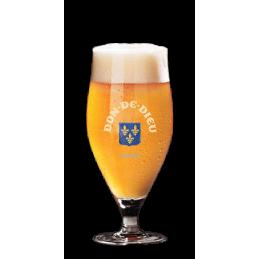 Glas mit unibroue Don de Dieu du Quebec Logo