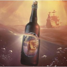 Don de Dieu-bier in de oceaan Unibroue Canada