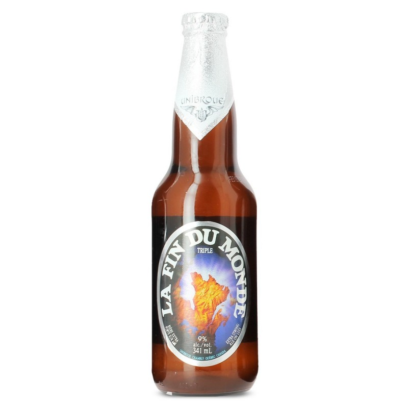 bouteille de biere fin du monde unibroue quebec 341 ml