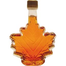 Bottiglia da 100 ml di foglie di sciroppo d'acero del Quebec