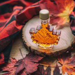 ahornsiroop in een bladfles van 100 ml uit Canada