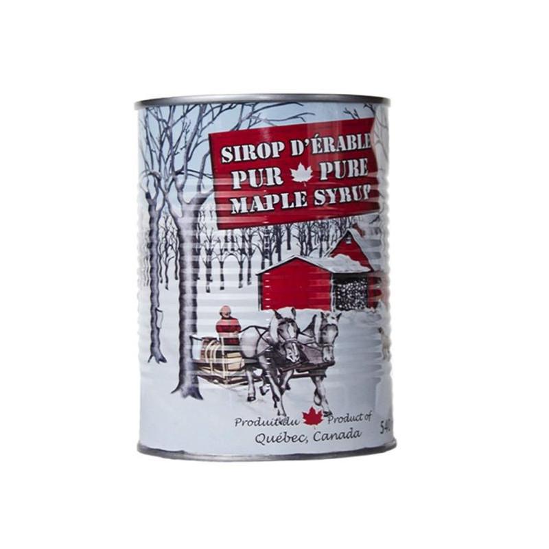 540 ml ahornsiroop in een metalen stok