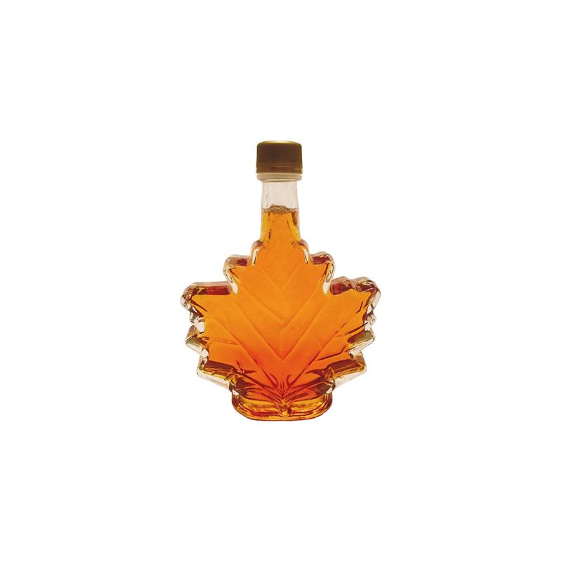 Bottiglia di foglia di sciroppo d'acero del Quebec