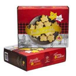 Boite de biscuit feuille d'érable à la crème