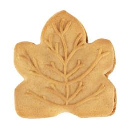 Maple leaf koekje met ahornsiroop