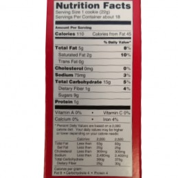 Valeur nutritive biscuits au chocolat feuille d'érable