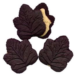 3 biscotti al cioccolato foglia d'acero
