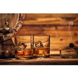 Due bicchieri di whisky coureur des bois
