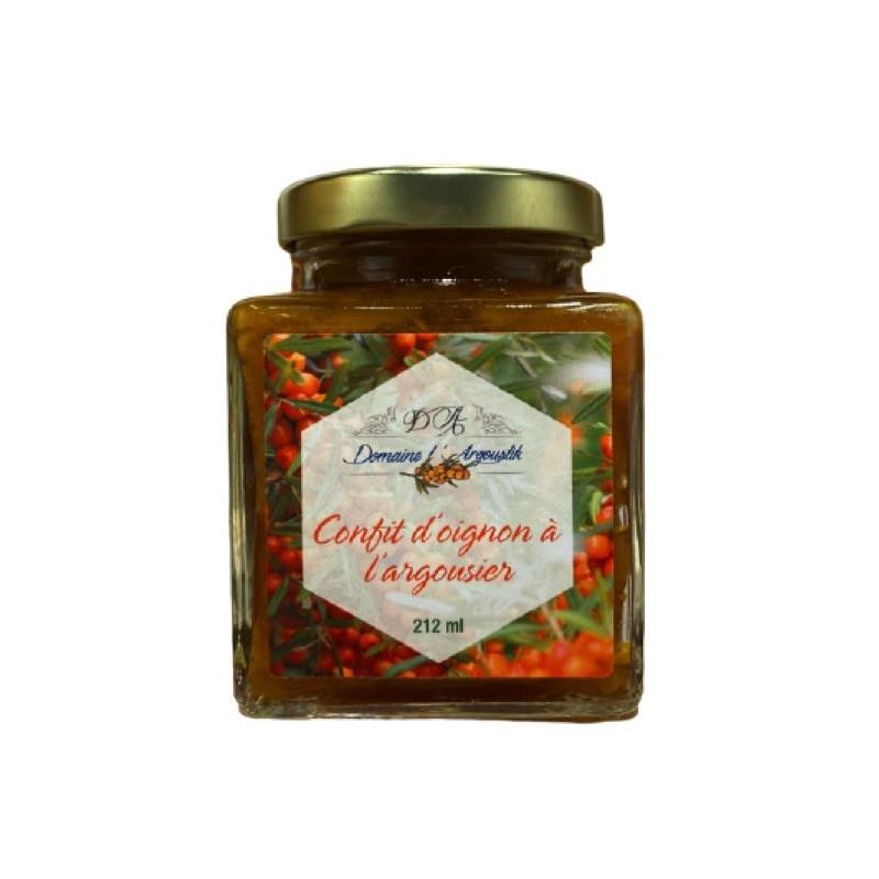 Cipolla confit con olivello spinoso e acero