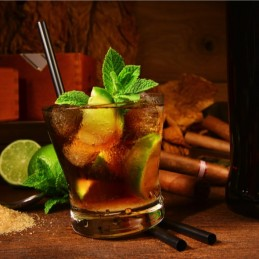 Cocktail avec du rhum chic choc