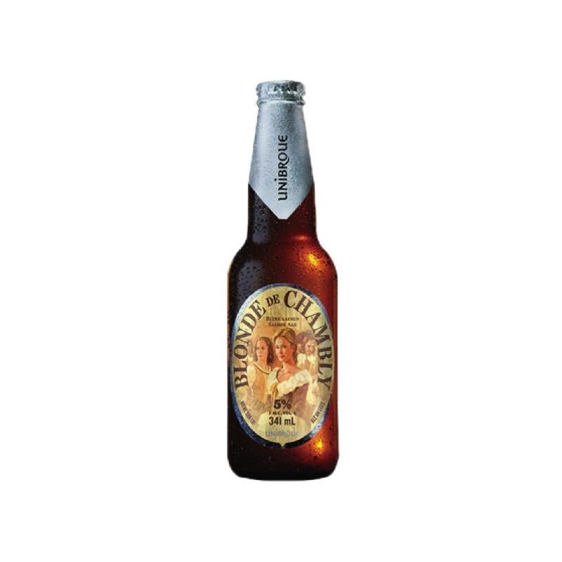 Eine Flasche Chambly-Lagerbier
