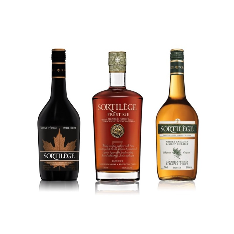 Whisky Sortilège Trio Range mit Ahornsirup