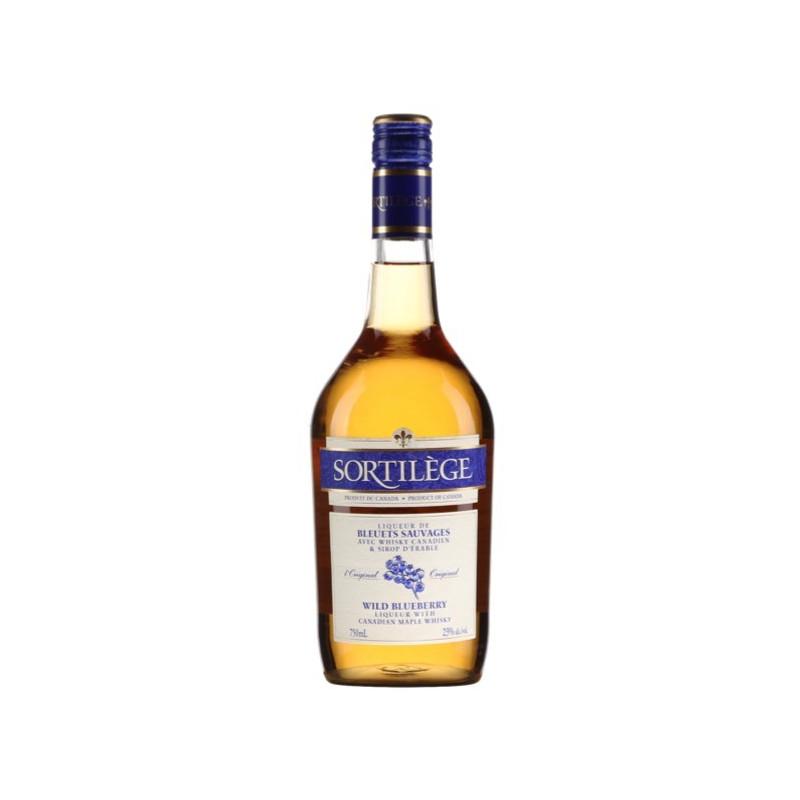 Bouteille de whisky sortilège aux bleuets
