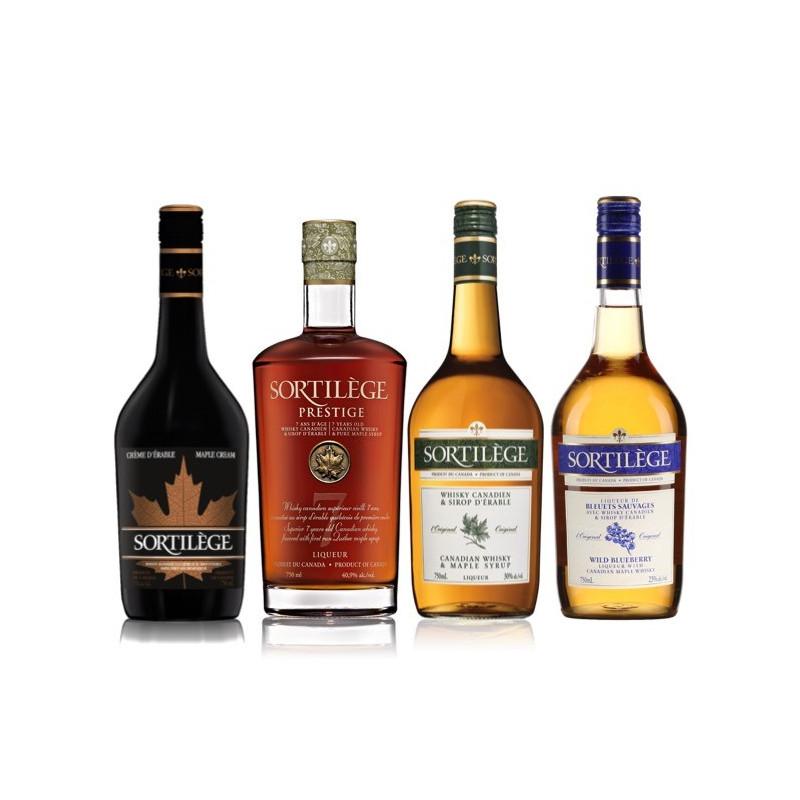 Whisky-pack met ahornsiroop-spreuk