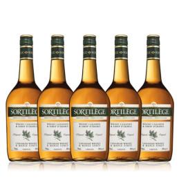 5 bouteilles whisky sortilège original au sirop d'érable