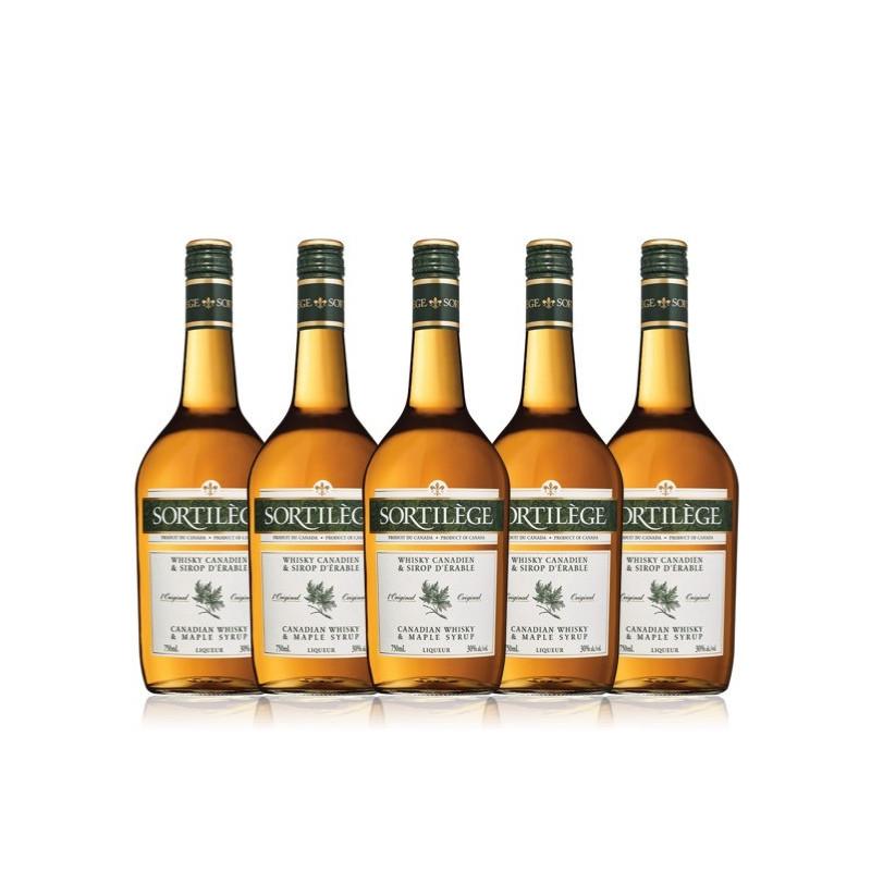 5 bottiglie di whisky originale incantesimo con sciroppo d'acero