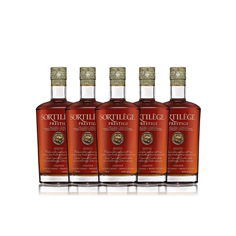 Confezione da 5 whisky prestige spell 7 anni