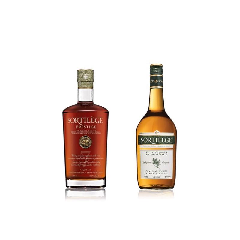 Whisky-duo-spreuk met ahornsiroop