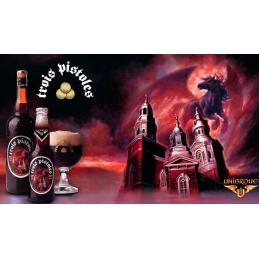 Drei Pistolen Bier reichen von Quebec