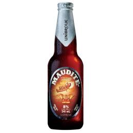 1 bottiglia di birra canadese unibroue Maudite