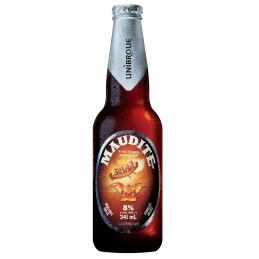 1 bouteille de Maudite bière unibroue canada