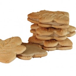 Ahornblatt-Keks mit Ahornsirup