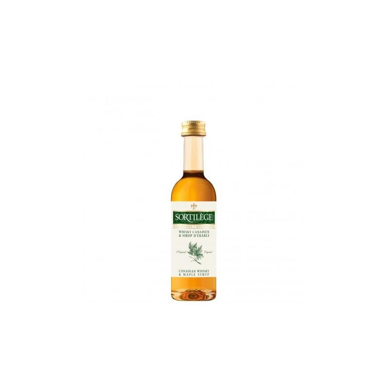 Mignonnette de whisky sortilège 50ml au sirop d'érable