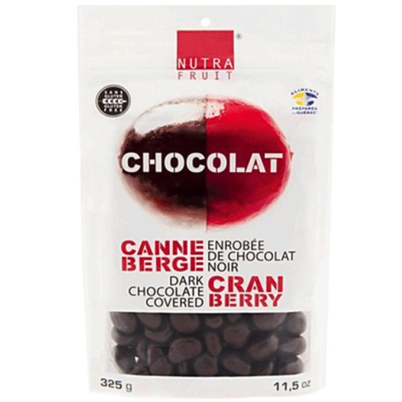Met chocolade omhulde cranberry