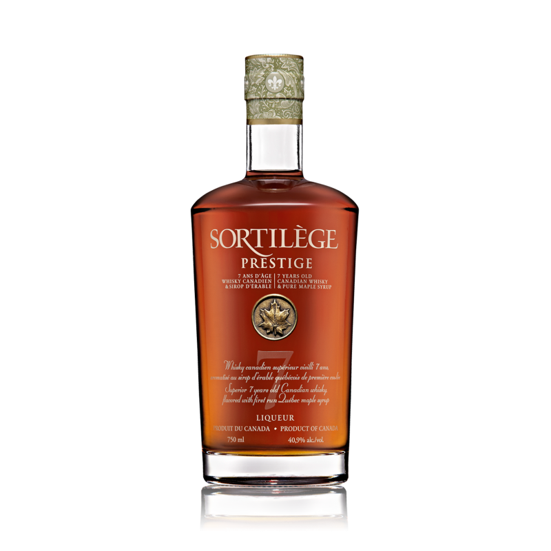 bouteille de whisky sortilège prestige 7 ans d'âge du canada