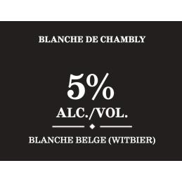Fiche technique blanche de Chambly