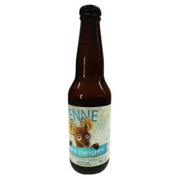 Weißes Bier des Schneerindes