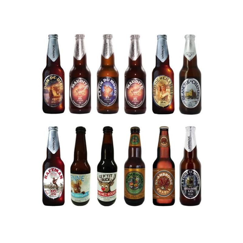 Pack découverte 12 bières du Canada
