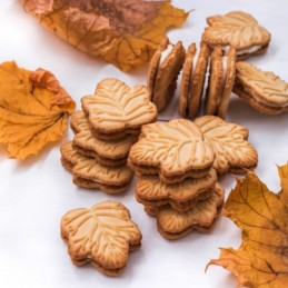 Verschillende koekjes van het esdoornblad