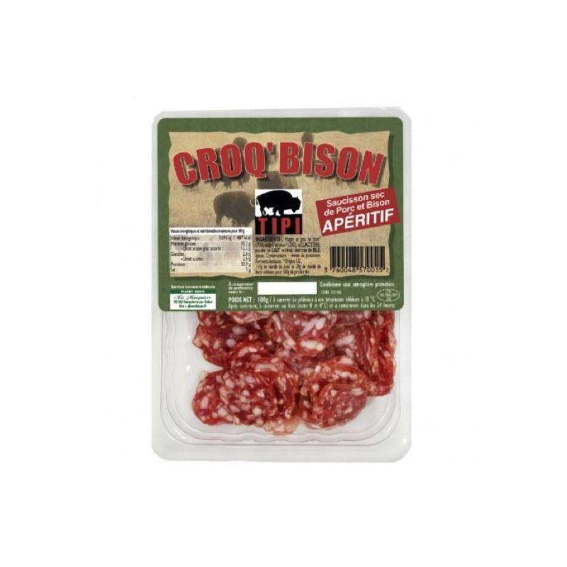 Salsiccia di bisonte a fette