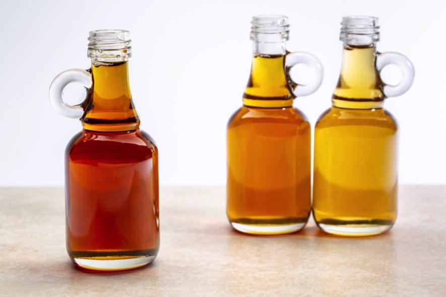3 bouteilles de sirop d'érable