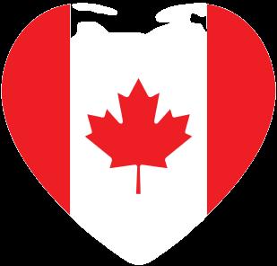 drapeaux canada érable et coeur