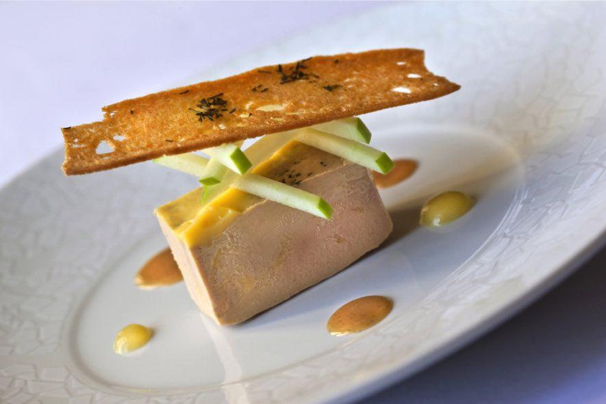 Foie gras sur tuile à l'érable
