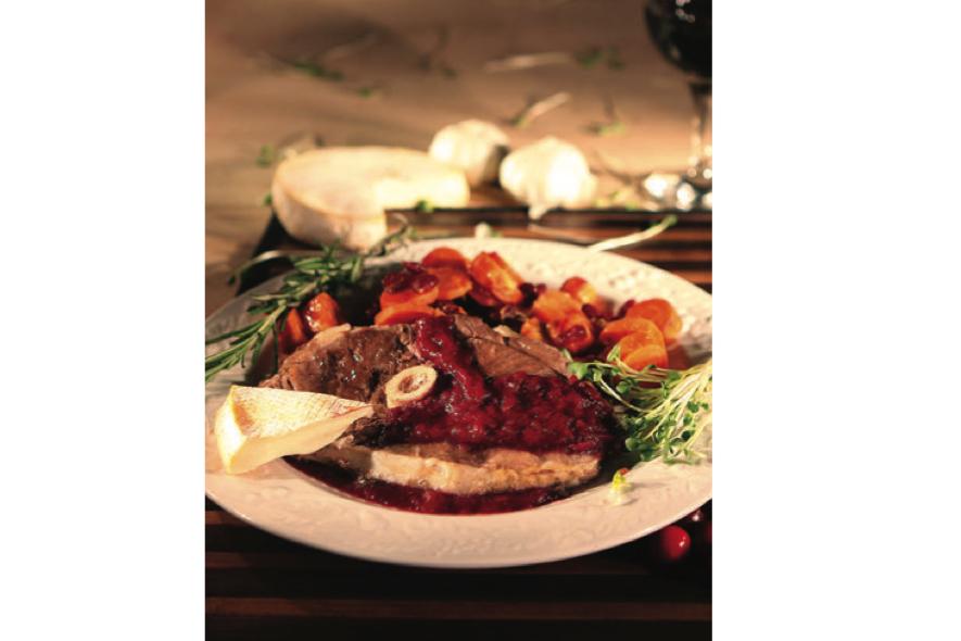 gigot d'agneau a l'érable et légumes caramélisés