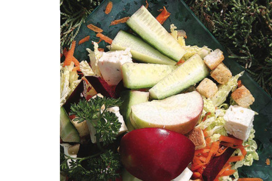 Salade croquante à l'érable