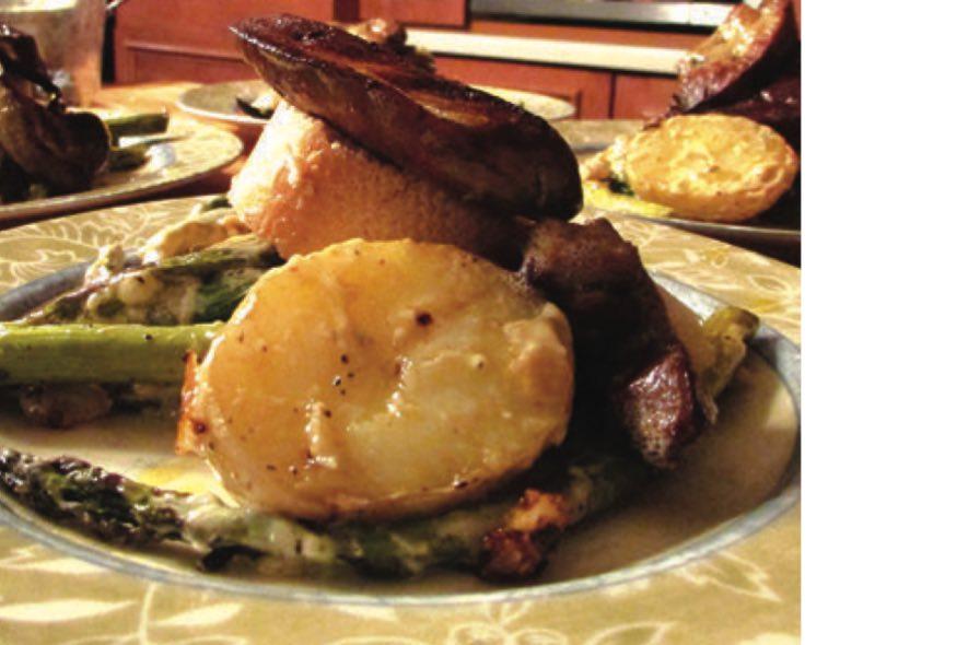 Salade d'asperges chaude au foie gras