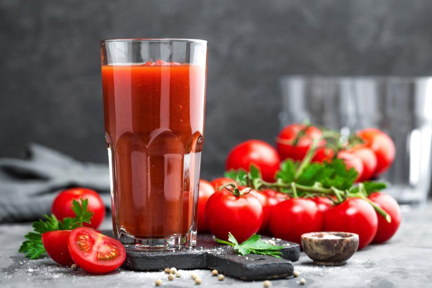 Sorbet à la tomate et au Sortilège