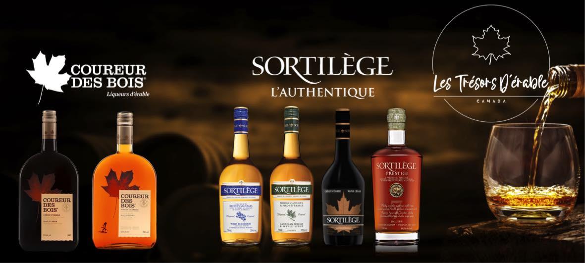 Kanadischer Whisky Coureur des Bois und Sortilège